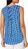 NYDJ Women's Sleeveless Pintuck Pleatback