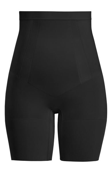 Spanx Women's OnCore High Waist Mid Thigh Shaper Shorts, Size Small, Very Black