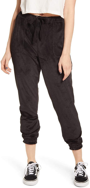 love, FiRE Women's Velour Joggers - Size Small | Black