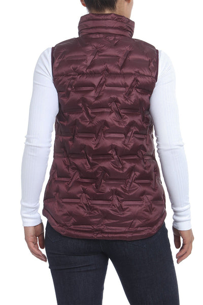 Gerry Women Puffer Down Vest  front closure | Size - M | PORT WINE