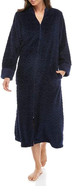 Miss Elaine Cuddle Fleece Short Zip Robe (836579)