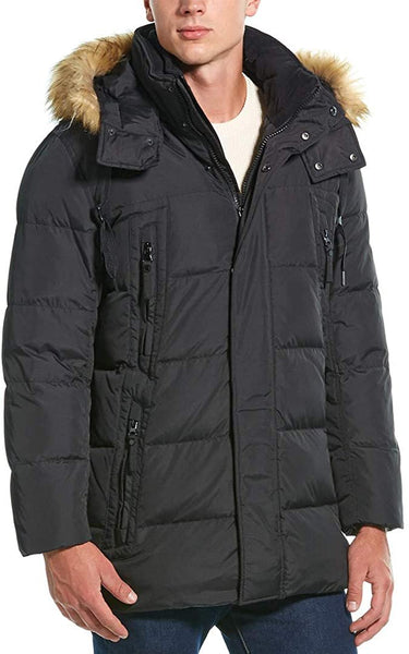 Marc New York by Andrew Marc Men's Conway Hooded Matte Shell Parka Jacket with Removable Faux Fur