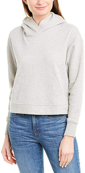 James Perse Women's Cropped Hoodie | Size - 3 | Grey