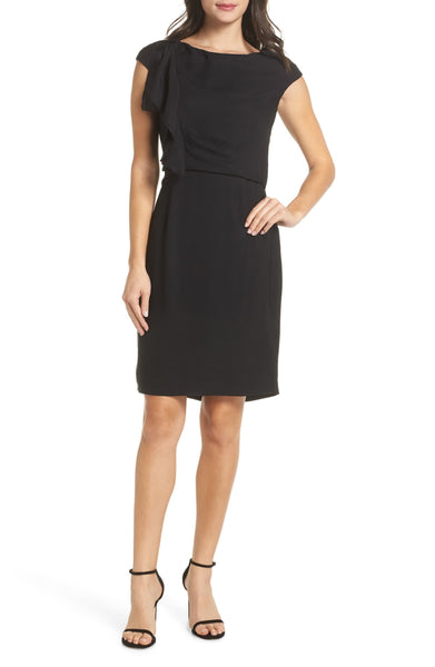 Harper Rose Women's Ruffle Detail Sheath Dress, Size 8 - Black