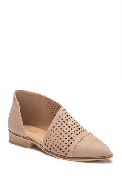 CATHERINE CATHERINE MALANDRINO Roffee Perforated D'Orsay Flat, Size 8.5, Sand