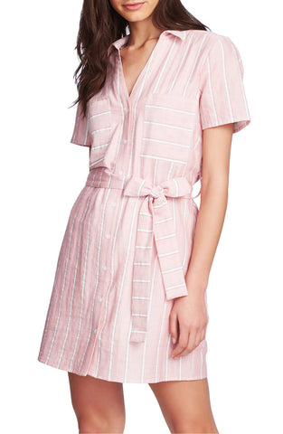 1.STATE Cotton Sunwashed Striped Dress