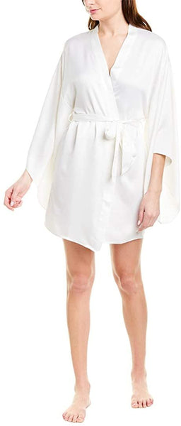 Flora Nikrooz Women's April Charm Kimono Sleeves Robe - Size Small - Ivory