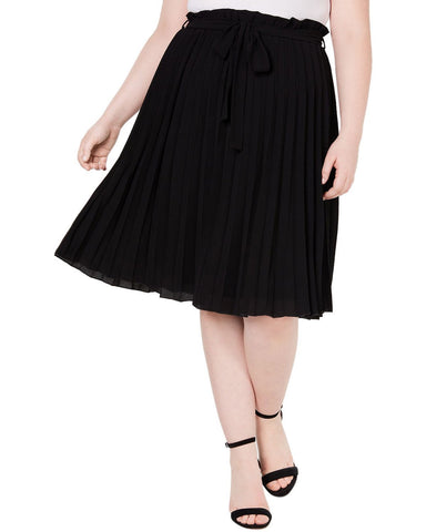 Monteau Trendy Plus Size Pleated Skirt