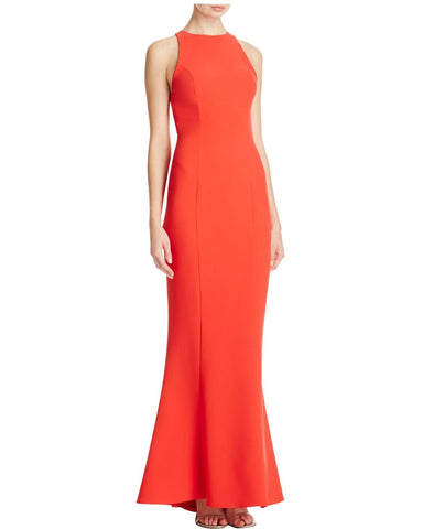 Maria Bianca Nero Women's Ruffled Open Back Gown