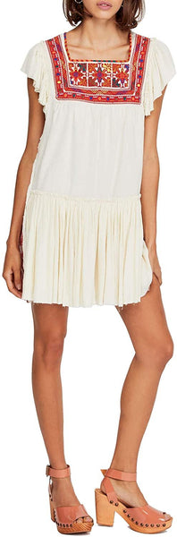 Free People Day Glow Mini Dress - White XL