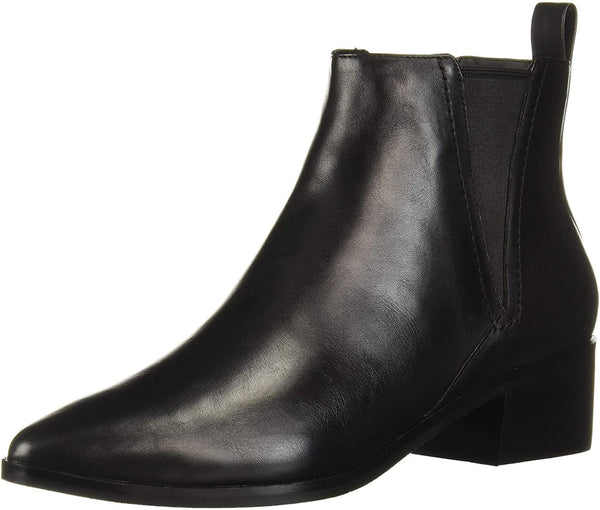 Cole Haan Women's Marinne Bootie 45mm Ankle Boot, Black Leather, 10