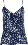L'agence Women's Jane Print Silk Tank, Size Large - Blue