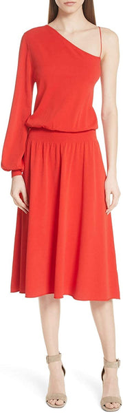 A.L.C. Women's Shara One-Shoulder Midi Dress - Size X-Small, Red