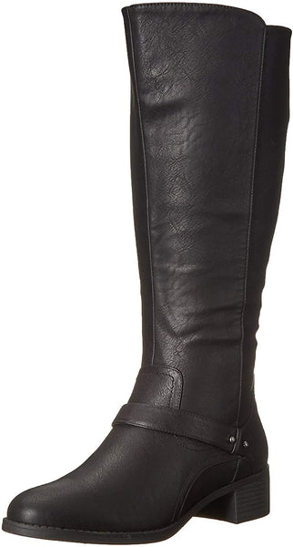 Easy Street Women's Jewel Plus Mid Calf Boot, Brown, 9 W US