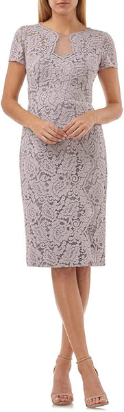 JS Collections Women's Lace Cocktail Dress - Size 10, Taupe