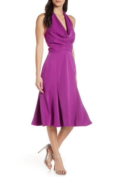 harlyn Women's Halter Fit & Flare Dress, Size Small - Purple
