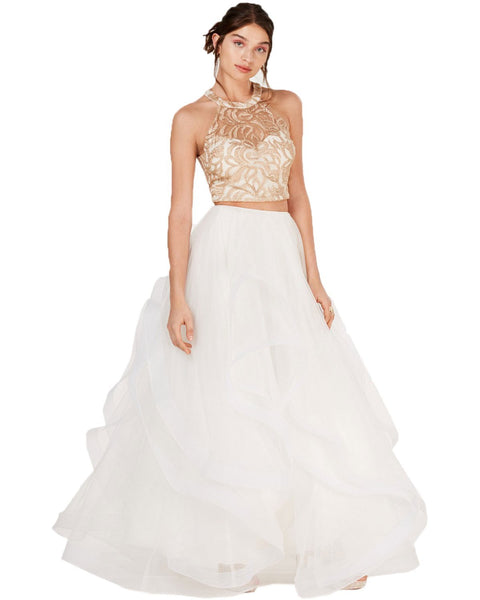 Say Yes To The Prom Juniors' Embroidered 2 Pc Gown