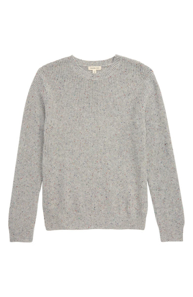 Boy's Tucker + Tate Textured Knit Pullover, Size XXL (18-20) - Grey
