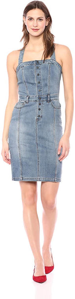 William Rast Women's Serena Cross Strap Denim Dress