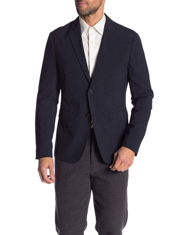 Theory Eclipse Men's Two Button Seersucker Check Blazer