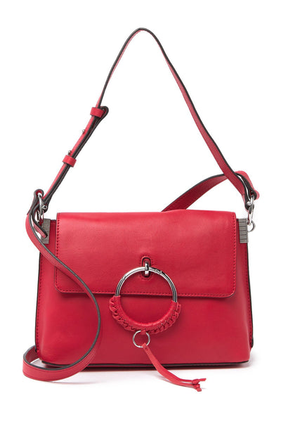 Vince Camuto Regan Leather Crossbody Bag - Size One Size | Scarlet