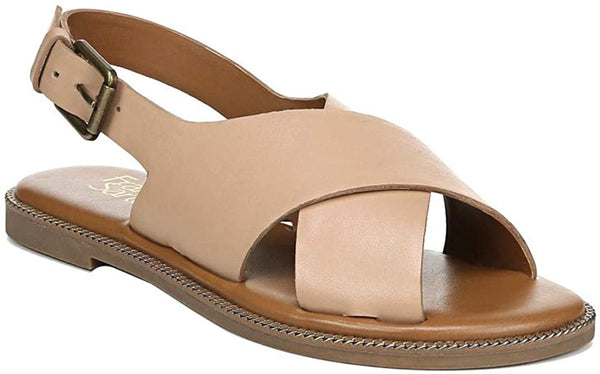 Franco Sarto Kayleigh Leather Sandal, Nude Brown, 7