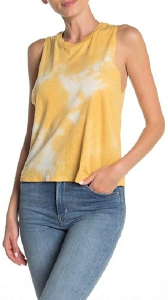 PST By Project Social T Women's Tie-Dye Tank Top | Size - Medium | Yellow