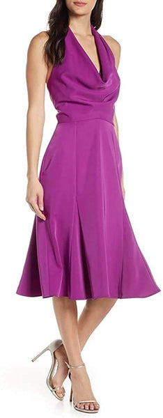 harlyn Women's Halter Fit & Flare Dress, Size XL - Purple