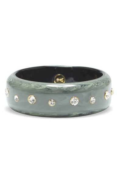 Vince Camuto Crystal Resin Bangle Bracelet, One Size, Gold/Green