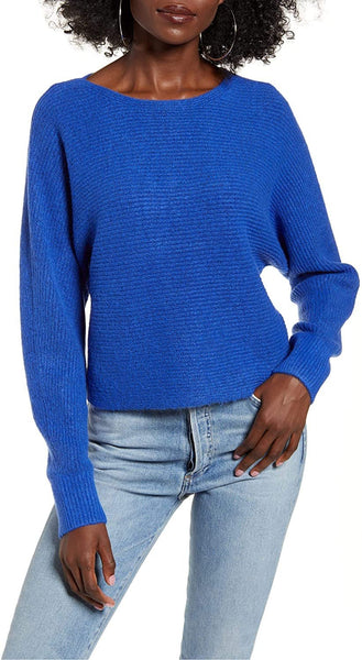 Leith Women's Dolman Sleeve Pullover - Size X-Small | Blue
