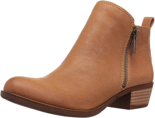 Lucky Brand Women's Basel Ankle Bootie, Wheat, 6 M US