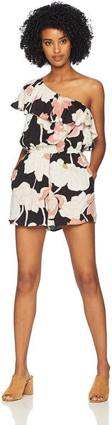 cupcakes and cashmere Women's Arnett Print One Shoulder Romper