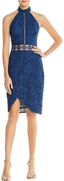 StyleStalker Women's Emilia Lace Halter Party Cocktail Dress