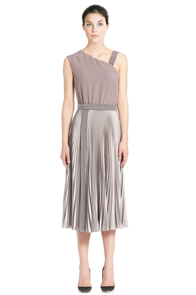 Christopher Kane Studded One Shoulder Cocktail Evening Dress