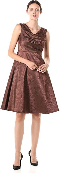 Adrianna Papell Women's Stretch Lame Party Dress | Size - 16 | Color - Copper