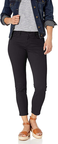 NYDJ Women's Petite Size Alina Skinny Convertible Ankle Jeans, Size 2 - Black