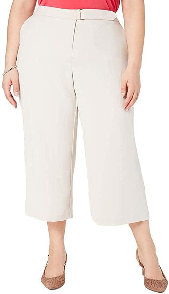 Alfani Women's Plus Polished Beige Wide-Leg Belt-tab Pants Size 22w