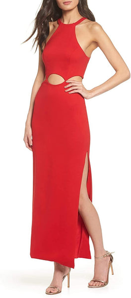 Fame and Partners Women's The Annalise Cutout Gown, Size 12 - Red