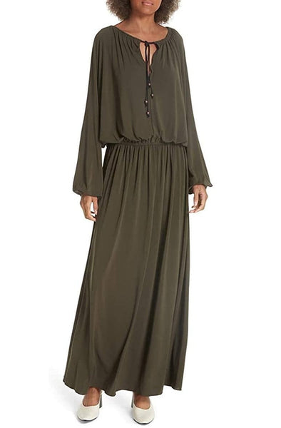 Elizabeth and James Luna Maxi Dress, Olive, X-Small
