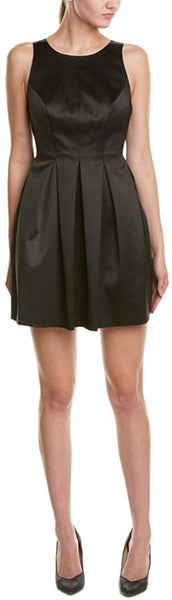 Cynthia Rowley Bow Back Satin Fit & Flare Dress