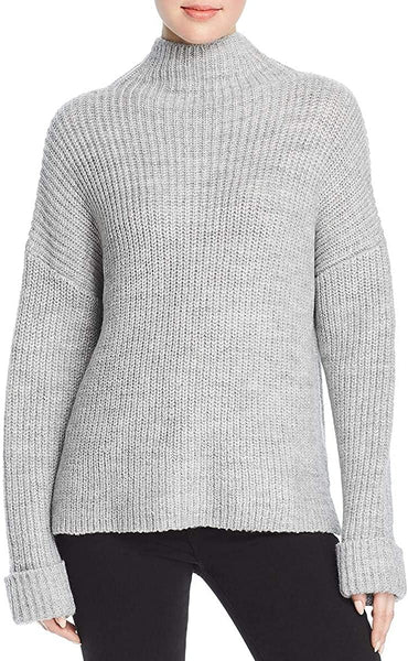Marled Reunited Clothing Women's Chunky Mockneck Oversized Pullover Sweater