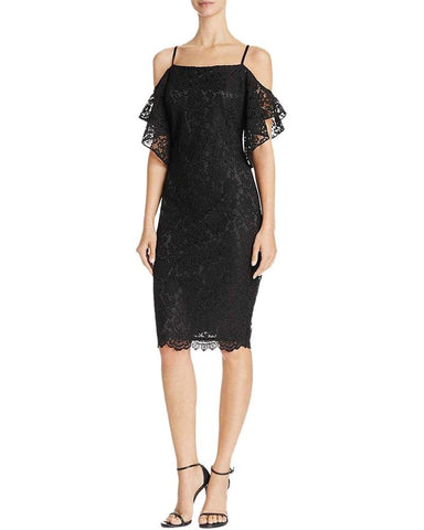 Laundry by Shelli Segal Women's Cold Shoulder Formal Cocktail Dress