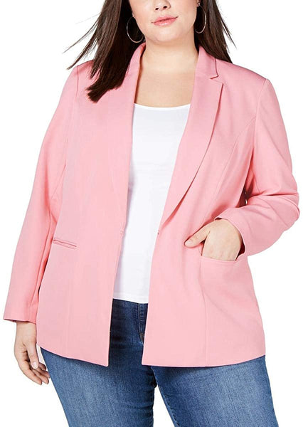 INC Womens Plus Suit Separate Professional Jacket | Size - 3X | Pink