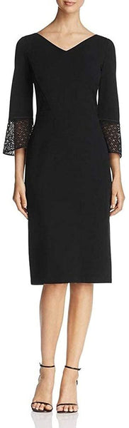 Lafayette 148 New York Womens Wear to Work Dress, Size 12 - Black