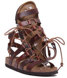 Papillio Cleo Women;s Leather Gladiator Sandals Size 6, Cognac