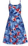 City Chic Plus Size Women's Love Hawaii Fit & Flare Dress, Size 18 - Blue
