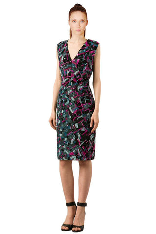 J. Mendel Sequin Embellished Sleeveless Sheath Dress