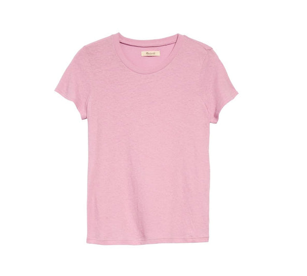 Madewell Women Short sleeves Lo-Fi Shrunken Tee | Size - Medium | Pink