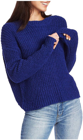 1.STATE Mock Neck Terry Yarn Sweater