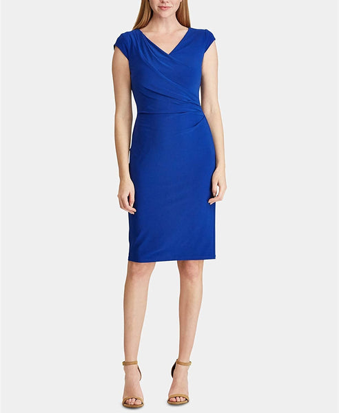 Ralph Lauren Lauren Petite Ruched Dress - Royal 8